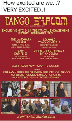 """Interview with Actress Judi Beecher for """"Tango Shalom"""" (2021)"""