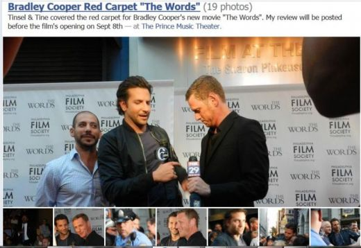 "Bradley Cooper and Brian Klugman at Philly Premiere of ""The Words"""
