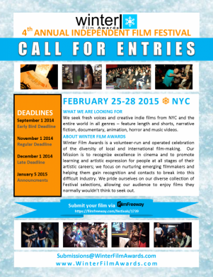 Winter Film Awards 2015 CALL FOR ENTRIES