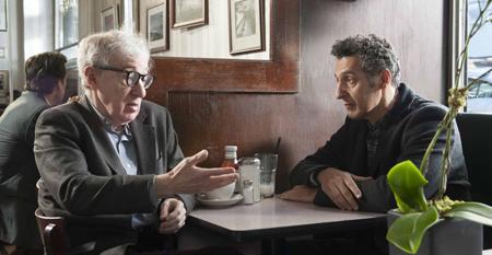 """Woody Allen and John Turturro in """"Fading Gigolo"""""""