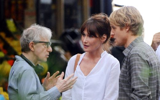 Woody Allen Directing Carla Bruni and Owen Wislon