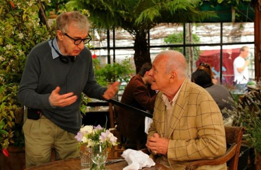 Woody Allen and Anthony Hopkins