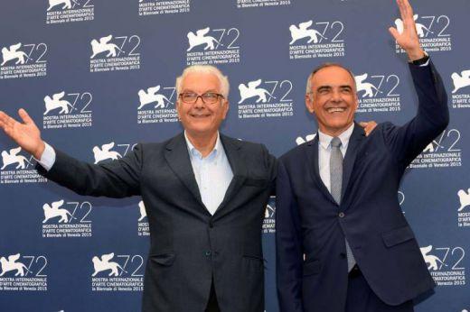President Paolo Baratta and Festival director Alberto Barbera