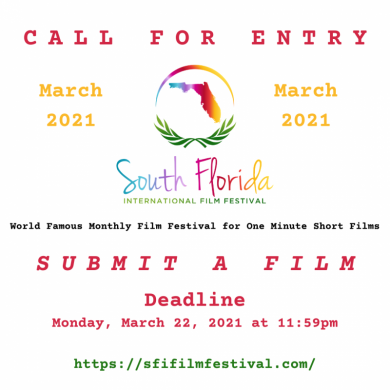 South Florida International Film Festival - Call For Entry – March 2021