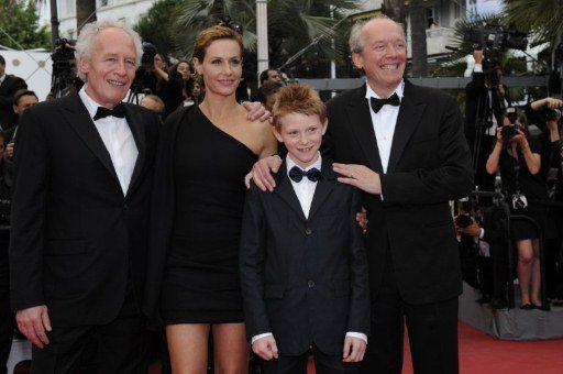 Belgian directors Jean-Pierre Dardenne (Left), Luc Dardenne (Right), Cecile de France and  Thomas Doret