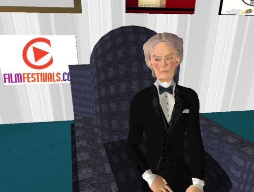 Alain Delon in Cannes on Second Life