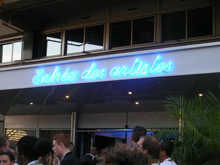 Backstage Cannes entrance