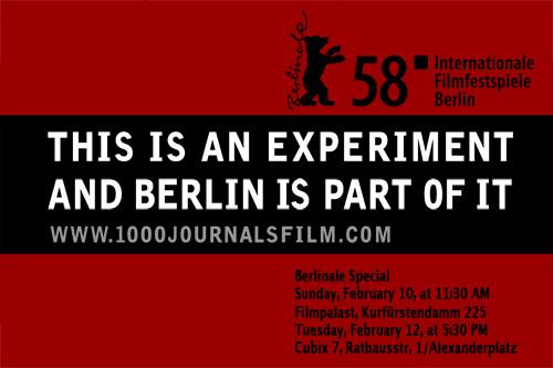 1000 Journals Berlinale Special