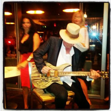 Gary Lucas solo at Jarrell Guitars event outdoors at the Ritz Carlton Toronto