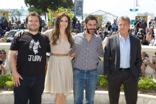 Jack Black (Po), Angelina Jolie (Tigress) and Dustin Hoffman (Shifu) dazzle the crowds at a photo call in Cannes, France to cele
