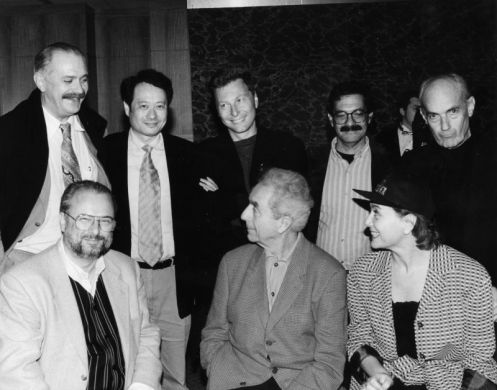 Milcho Manchevski (top middle) in 1994