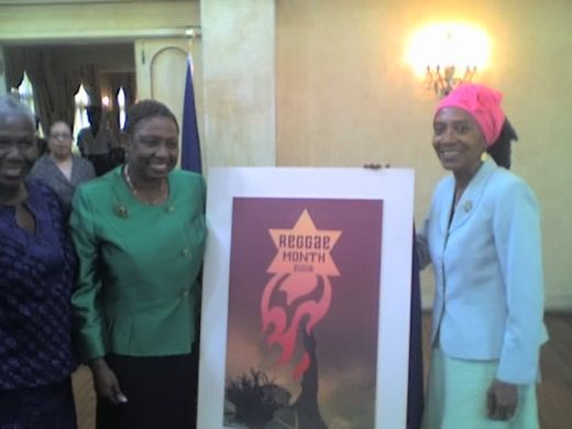 Minister of Culture and Barbara Blake Hannah Reggae Film Festival director 2008