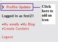 profile update