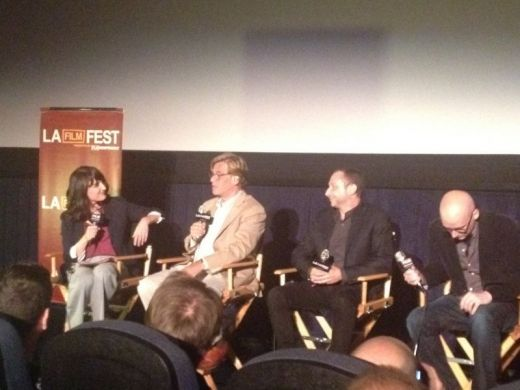 Madeleine Brand, NEWSROOM creator Aaron Sorkin, Executive Producer Alan Poul, and Director Greg Mottola