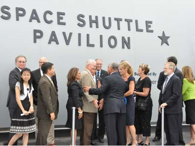 Space Shuttle Pavilion Grand Opening Ceremony