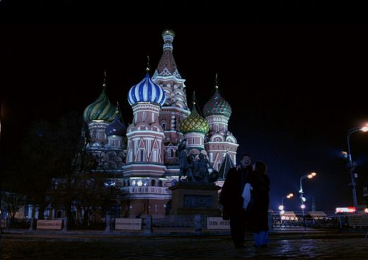 "Steven Brand and Agata Gotova in "" Say it in Russian"""