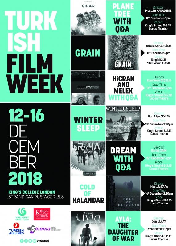 Turkish Film Week returns to London 12-16th December