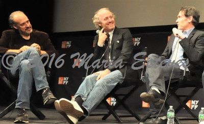 NYFF54 World Premiere of 20TH CENTURY WOMEN: (L-R) Festival director Kent Jones,  NYFF, director Mike Mills, and cast member actor Billy Crudup.