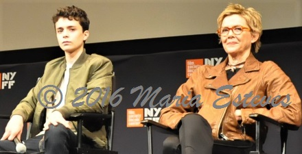 NYFF54 World Premiere of 20TH CENTURY WOMEN: (L-R) cast members Lucas Jade  Zumann and Annette Bening.