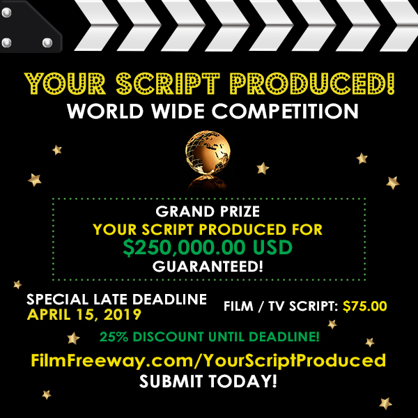 Your Script Produced Calling with a 250 000$ funding prize