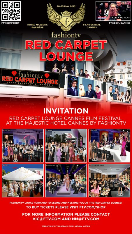 reserve your tickets for fashion tv red carpet lounge and terrace at the majestic may 20 25. Black Bedroom Furniture Sets. Home Design Ideas