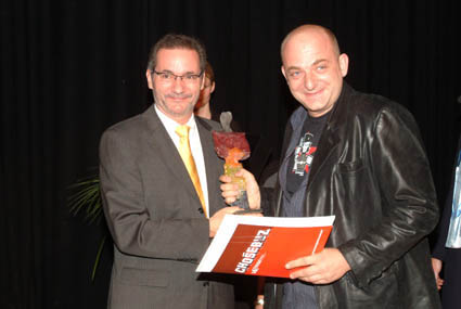 Patron Matthias Platzeck, Minister President of the Federal State of Brandenburg (l.) and Director Oleg Novkovic (r.)
