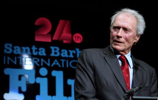 Clint Eastwood at Podium